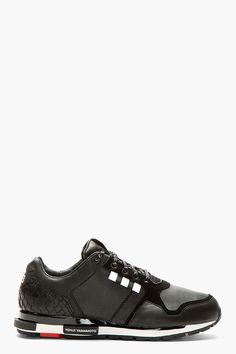 adidas Y-3 Black Low-Top Vern Sneakers