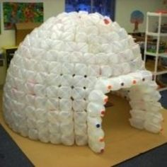.Milk jug igloo.