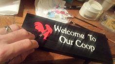 4-18-2015 SDV  www.etsy.com / shop / uniqueprimtiques #customcolors #customsizes #signs #primitivesigns #homedecor #handmade #customwoodworking www.uniqueprimtiques.com