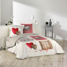 Housse de couette Love Cottage 220 x 240 en coton