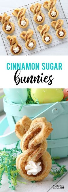 Cinnamon sugar Easter bunny twists are a fun, easy Easter treat to make with your kids. baking Cinnamon sugar Easter bunny twists {fun + easy Easter treat} - It's Always Autumn recipes dessert treats Easter Snacks, Easter Brunch, Easter Treats, Easter Appetizers, Easy Easter Desserts, Easter Deserts, Easter Cake Easy, Easy Easter Recipes, Easter Party