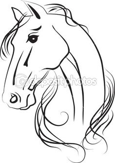 Isolated drawing of horse head — Imagen de stock #13198222