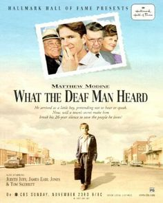"""""""What the Deaf Man Heard"""" - my favortie Hallmark movie Deaf Movies, Good Movies, Matthew Modine, Sign Language Phrases, I Love You Signs, Deaf Children, Deaf Culture, Hallmark Movies, Tv Guide"""