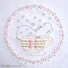 Embroidery Pattern PDF H is for Hippo In a от sherimcculley