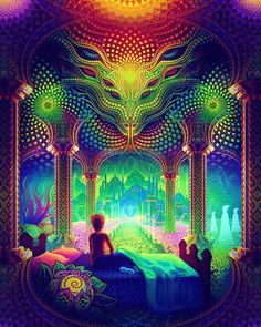 "616 Me gusta, 8 comentarios - Trippy Psychedelic LSD Art (@mindslights) en Instagram: ""Artist: @salviadroid"""
