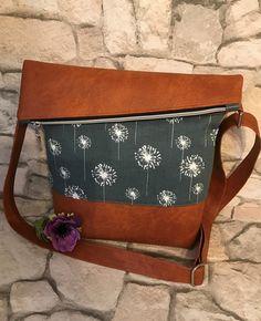 Umhängetaschen - Neue Kollektion!! FoldOver Tasche, Pusteblume - ein Designerstück von Kleine-Wollbude bei DaWanda