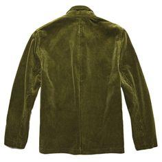 Mens Retro Trendy Corduroy Jacka Stora Fickor Casual Blazer - Army Green M