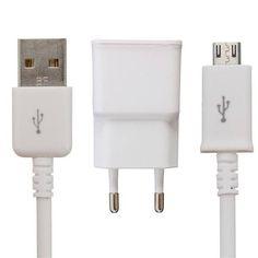 2A EU Plug Travel Wall Charger Adapter + USB Cable For Samsung Galaxy S6/S6 Edge Sale-Banggood.com