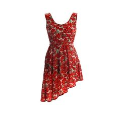 tomato print dress | Gossipi Tomato Print Dress in Red in the style of Pixie Geldof at ...