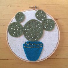 Boho Cactus Embroidery Hoop Art by freespiritjenny on Etsy