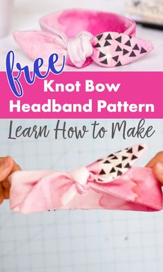 FREE DIY Baby Headband Sewing Pattern! Make it in 30 minutes - it's so easy! The Headband sewing pattern also comes in kids, teen, and adult sizes. Click to get the FREE Pattern.