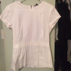 White peplum blouse NWT Perfect condition White peplum blouse NWT Perfect condition Theory Tops Blouses