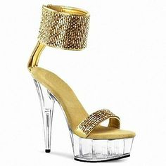 Cuero de imitación de las mujeres del estilete de la plataforma de las sandalias de tacón Zapatos con Lentejuela (más colores) – USD $ 69.99
