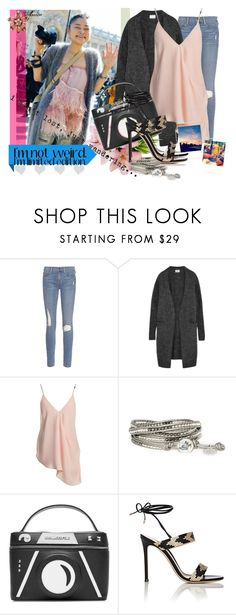 """I'm limited edition"" by wodecai ❤ liked on Polyvore featuring Frame Denim, Acne Studios, Sans Souci, Karl Lagerfeld and Gianvito Rossi"