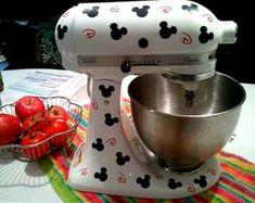 Mickey Mouse Set Kitchenaid Mixer Vinyl Decal Sticker Disney Kitchen Decor