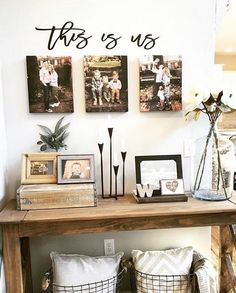 This is us wood words wood word cut out laser cut wedding image 5 My Living Room, Living Room Decor, Foyer Decorating, Decorating Ideas, Wooden Wall Art, Cozy House, Entryway Decor, Entryway Stairs, Rustic Entryway