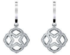 @Chopard Imperiale earrings in 18ct white gold set with diamonds. | The Jewellery Editor