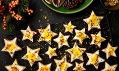 Orange and saffron shortbread stars