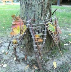 Andy Goldsworthy nature weaving