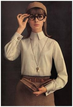 British supermodel Gene Shrimpton, 1964.