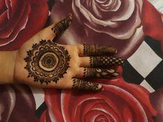 Inside hand mehndi