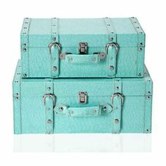turquoise suitcases