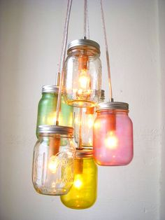 Good One: Mason jar chandelier                                                                                                                                                                                 Mehr