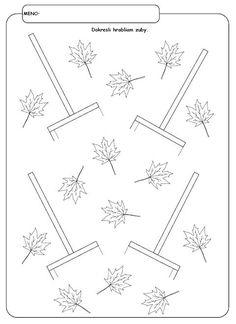 Pracovné listy - Album používateľky mery333 Body Preschool, Preschool Writing, Preschool Worksheets, Preschool Activities, Seasons Activities, Autumn Activities For Kids, Pre Writing, Autumn Crafts, Classroom Crafts