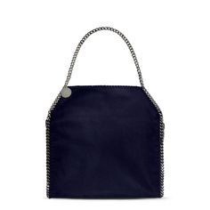 Navy Falabella Shaggy Deer Big Tote  - STELLA MCCARTNEY