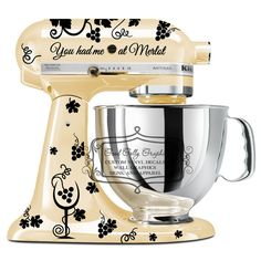 Wine kitchen mixer decal set by GoodGollyGraphics on Etsy, $20.00