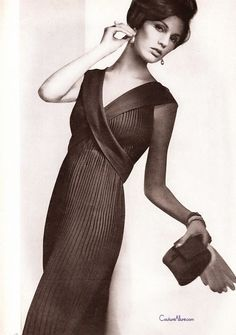 Couture Allure Vintage Fashion: Evening Dress by Jo Copeland for Patulo, 1962