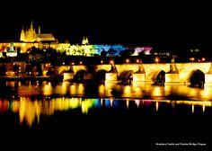 #ridecolorfully through nighttime Prague