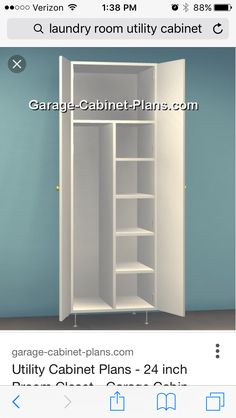 Utility Cabinet Plans 24 Inch Broom Closet Dimensions