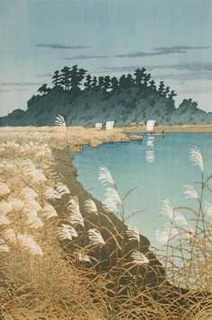 Ichikawa in Late Autumn Kawase Hasui (Japan, 1883-1957) Japan, 1930 Prints; woodcuts Color woodblock print Image: 14 5/16 x 10 1/16 in. (36.4 x 25.6 cm); Paper: 15 1/2 x 10 7/16 in. (39.4 x 26.5 cm) Gift of Mr. and Mrs. Felix Juda (M.73.37.90) Japanese Art
