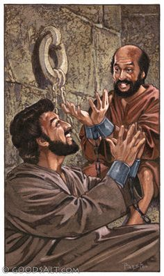 Acts 16 Paul and Silas singing in jail