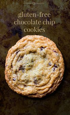 Best Gluten-Free Chocolate Chip Cookies - Soft and chewy in the middle, buttery and crisp around the edges. Dessert Sans Gluten, Gluten Free Sweets, Gluten Free Baking, Vegan Gluten Free, Gluten Free Recipes, Dairy Free, Free Gf, Wheat Free Recipes, Nut Free