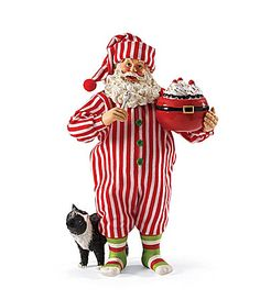Possible Dreams Santa and His Pets Collection Sprinkles Santa Figurine Set #Dillards