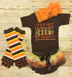 cool Newborn Thanksgiving Outfit, Baby Girl Thanksgiving outfit, Fall Outfit, Turkey...