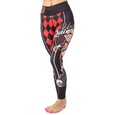 Straight outta' Gotham! Due to popular demand, we bring you the Fusion FG Harley Quinn ladies leggings! Sure, Harley started as a minor character and merely an accomplice/ on again, off again lover to the Joker, but she has since evolved into one of the main characters in the DC Universe, and the star of Suicide Squad!  #harleyquinn #leggings #yoga #bjj #jiujitsu #crossfit #dccomics #spats #tights