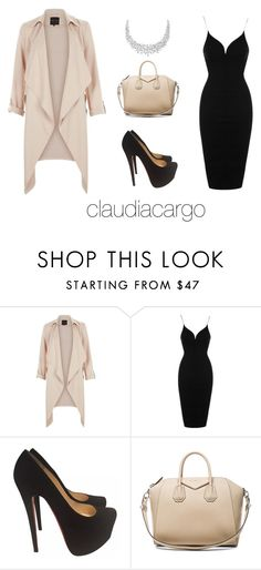 """""""Work"""" by claudiacargo on Polyvore featuring Topshop, Christian Louboutin and Givenchy"""