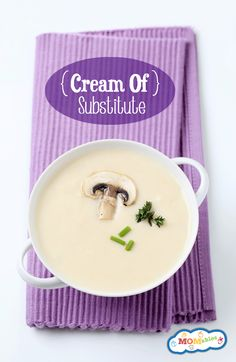 Cream of Soup Substitute Recipe via MOMables gives an easy alternative to many unhealthy canned creams.
