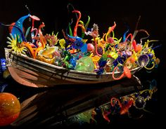 Yep- this is a boat filled with handblown glass sculptures- another Chihuly masterpiece!