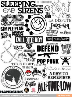 Lol Squidgy in the bottom left corner. But actually love these bands tho.