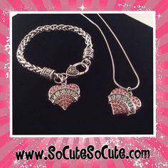 """Pink Plexus Crystal Heart Charm Silver Necklace Jewelry Description Pink Plexus crystal shield charm on snake chain. Charm size approximately 1"""" across & 1"""" tall compliance # 325062mz"""