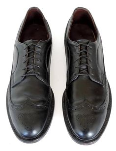 Men's FOOT-SO-PORT Supreme Leather Wingtip Oxford Shoes Size 11.5 AAA Black #FootSoPort #WingTip