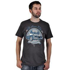 Batman - camiseta del batmóvil retro - vintage - estampado frontal - cuello redondo - algodón - gris - L #camiseta #friki #moda #regalo