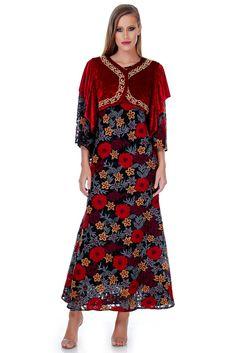 Bolero catifea cu broderie Belle Epoque, Cold Shoulder Dress, Dresses, Fashion, Embroidery, Moda, Vestidos, Fashion Styles, Dress