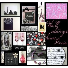 We'll always have Paris by tornpaperco on Polyvore featuring art, love, paris, etsy, wedding and celebrationtimes