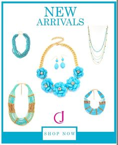 New Arrivals this week: More Statement Necklaces! Visit Costumejewelry1.com!