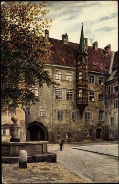 Alter Hof (Postcard around 1900)